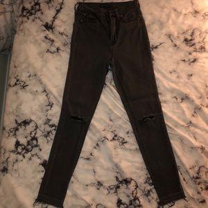 Aeropostale High Waisted Black Jeans